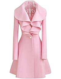 Amazon.com: Pink - Wool & Blends / Wool & Pea Coats: Clothing ...